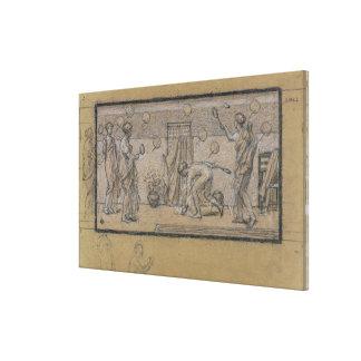 Estudie para la raqueta y Shuttlecock, c.1871 (cha Impresion En Lona