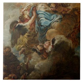 Estudie para la suposición de la Virgen, c.1760 2 Azulejo