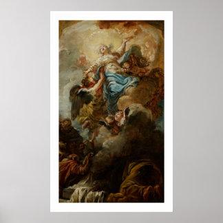 Estudie para la suposición de la Virgen, c.1760 2 Poster