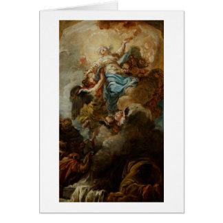 Estudie para la suposición de la Virgen, c.1760 2 Tarjetón