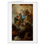 Estudie para la suposición de la Virgen, c.1760 2 Tarjeta De Felicitación