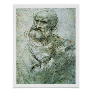 Estudie para un apóstol de la última cena, c.1495 póster