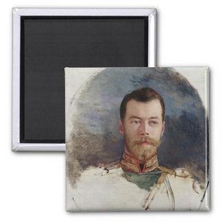 Estudie para un retrato del Tsar Nicolás II 1898 Imán Cuadrado