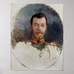 Estudie para un retrato del Tsar Nicolás II 1898 Poster
