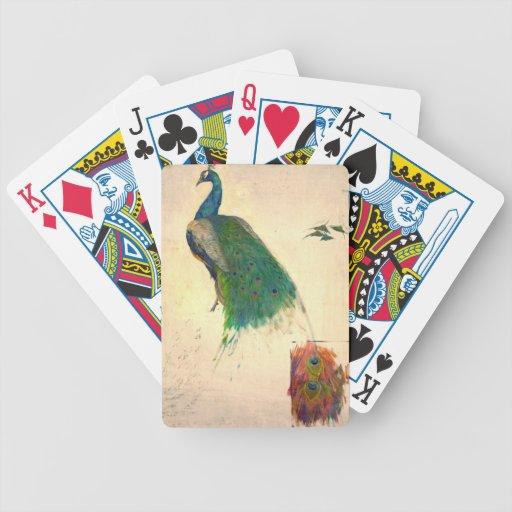 Estudio 1896 del pavo real barajas de cartas