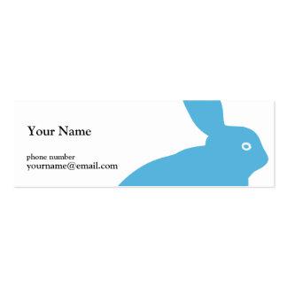 Estudio azul del conejo tarjetas de visita