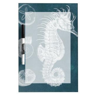 Estudio azul I del Seahorse Tablero Blanco