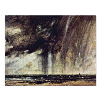 Estudio con la nube de lluvia, paisaje marino del anuncios