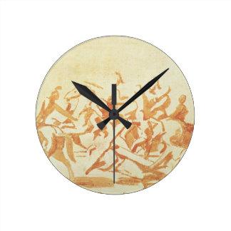 Estudio de Cristo que lleva la cruz (tiza y lavado Reloj Redondo Mediano