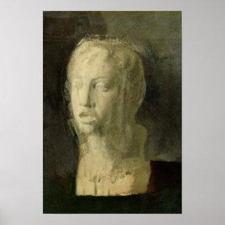 Estudio de Edgar Degas el | de la cabeza de un Póster
