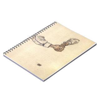 Estudio de Egon Schiele- de manos Libreta Espiral