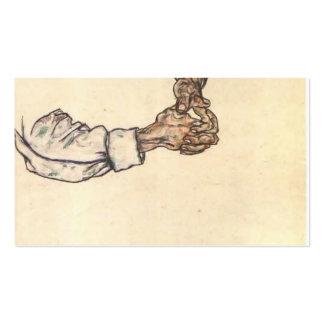 Estudio de Egon Schiele- de manos Tarjetas De Visita