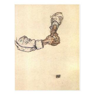 Estudio de Egon Schiele- de manos Tarjetas Postales