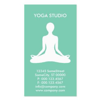 estudio de encargo de la yoga tarjetas de visita