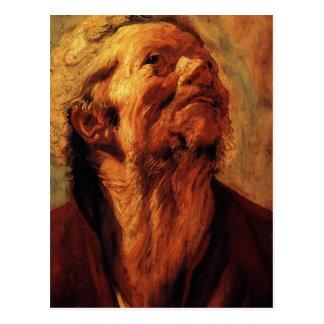 Estudio de Jacob Jordaens- de la cabeza de Abraham Postal