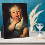 Estudio de Jacob Jordaens- del pequeño niño Placa Para Mostrar