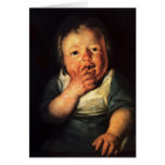 Estudio de Jacob Jordaens- del pequeño niño Felicitaciones