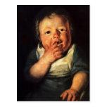 Estudio de Jacob Jordaens- del pequeño niño Tarjetas Postales