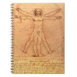 Estudio de la anatomía de Leonardo da Vinci del Libros De Apuntes Con Espiral