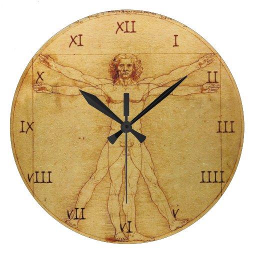 Estudio de la anatomía de Leonardo da Vinci del Reloj Redondo Grande