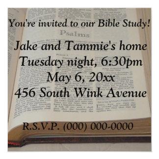 """Estudio de la biblia invitación 5.25"""" x 5.25"""""""