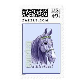 Estudio de la cabeza de Saddlebred, azul Franqueo