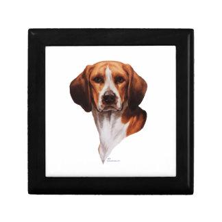 Estudio de la cabeza del beagle caja de joyas