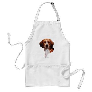 Estudio de la cabeza del beagle delantales