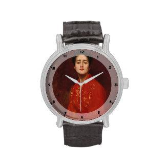Estudio de la caza de Guillermo del chica en vesti Relojes De Pulsera