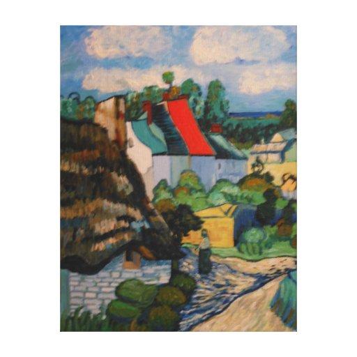 Estudio de la choza de la paja de Vincent van Gogh Impresion De Lienzo