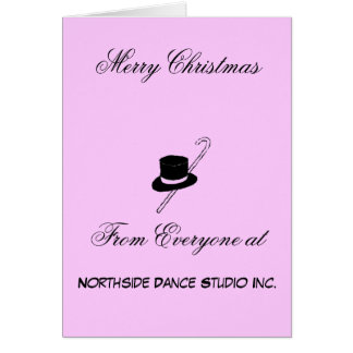 Estudio de la danza de las Felices Navidad Tarjeta Pequeña