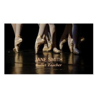 Estudio de la danza de los estudios del ballet del tarjetas de visita