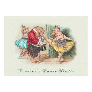 Estudio de la danza de Vintag/tarjeta de visita Tarjetas De Visita Grandes