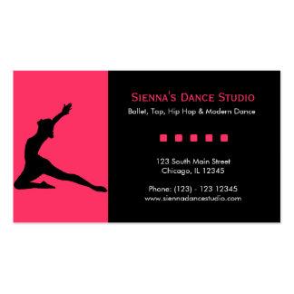 Estudio de la danza tarjeta de visita