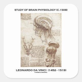 Estudio de la fisiología del cerebro (C. 1508) da Pegatina Cuadrada