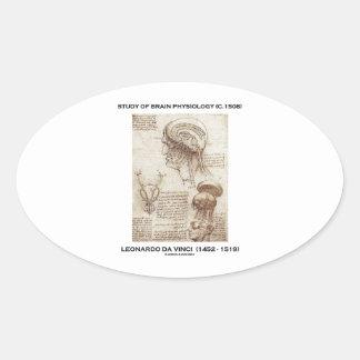 Estudio de la fisiología del cerebro (C. 1508) da Pegatina Ovalada