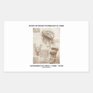 Estudio de la fisiología del cerebro (C. 1508) da Pegatina Rectangular