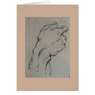 Estudio de la mano, la serie de la anatomía tarjeta de felicitación