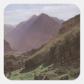 Estudio de la montaña, c.1840-43 pegatina cuadrada