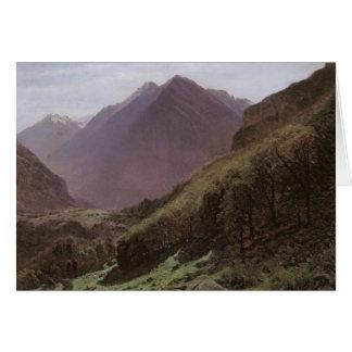 Estudio de la montaña, c.1840-43 tarjeta de felicitación
