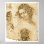 Estudio de la mujer para Lost que pinta a Leda, da Poster