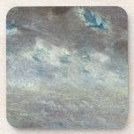 Estudio de la nube, 1821 (aceite en el papel a bor posavasos de bebida