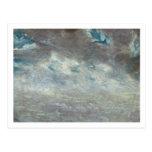 Estudio de la nube, 1821 (aceite en el papel a bor postales
