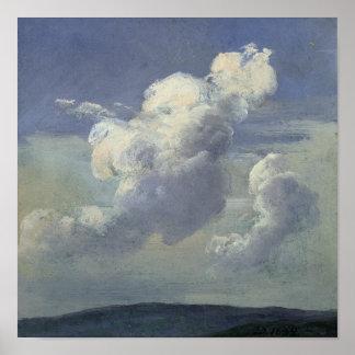 Estudio de la nube, 1832 póster