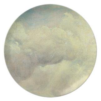 Estudio de la nube, c.1821 (aceite en lona) plato para fiesta