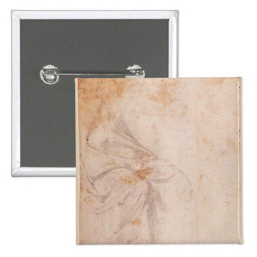 Estudio de la pañería c.1516 pin cuadrada 5 cm