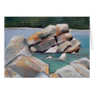 Estudio de la roca del puerto de la arena tarjeta pequeña