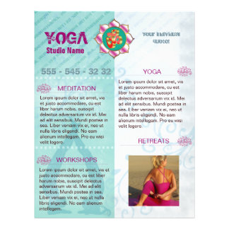 "Estudio de la yoga - aviador folleto 8.5"" x 11"""