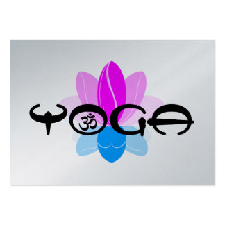 Estudio de la yoga tarjetas de visita grandes