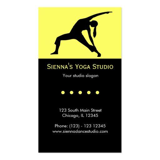Estudio de la yoga tarjeta de visita